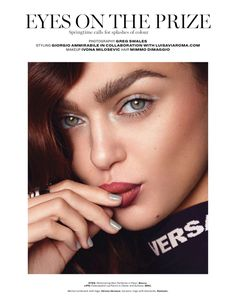Jena Goldsack | Eyeshadow Makeup Editorial | L'Officiel Singapore