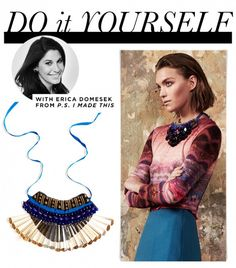 An Eye-Catching Bib Necklace You Can Make At Home via @WhoWhatWear