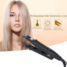 CkeyiN;Professionelle flache Form Haarverlängerung Eisen Fusion Haar Steckverbinder Schmelzen Stab Werkzeug mit verstellbaren Temperatur