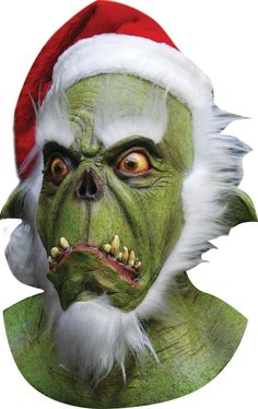 Green Santa Latex Mask