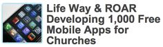 December 2, 2011, ROAR gave away mobile Church apps