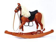 Wood Rocking Horse, Solid Wood, Fox