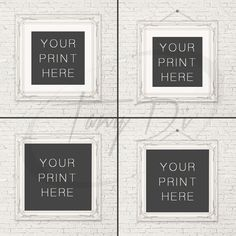 10x10 White Ornamental Square Matted & by TanyDiDesignStudio