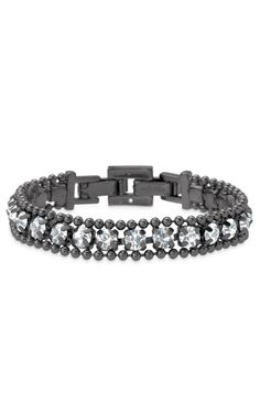 LOVE THIS!! I wear this one almost every day and get compliments on it just about every day as well!  Delicate Hematite, Ball Chain & Crystal Bracelet | Urbane Bracelet | Stella & Dot