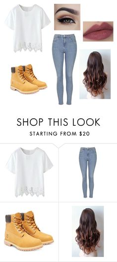 """""""Casual Day"""" by fashionista-dxliv on Polyvore featuring Topshop, Timberland, women's clothing, women, female, woman, misses and juniors"""
