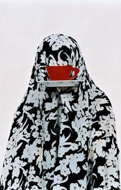 "The series ""Like Everyday"" of Iranian photographer Shadi Ghadirian -women as everyday objects (gender inequality) Teheran, Iranian Art, Arabic Art, Everyday Objects, Postmodernism, Muslim Women, Magazine Art, Islamic Art, British Museum"