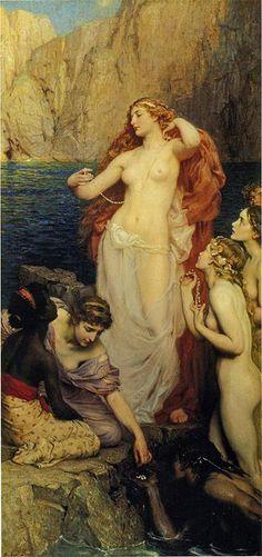 Las Perlas de Afrodita, Herbert James Draper, 1907. Wikimedia