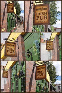 Rock 'N' Roll pub signboard design. Irish Pub Interior, Bar Interior, Interior And Exterior, Sign Board Design, Rock N Roll, Exterior Design, Rolls, Lily, Rock And Roll