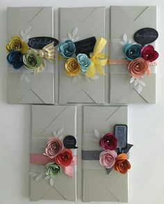 Trendy Flowers Gift Box Diy Stampin Up Creative Gift Wrapping, Creative Gifts, Wrapping Ideas, Elegant Gift Wrapping, Pretty Packaging, Gift Packaging, Diy Gifts, Handmade Gifts, Envelope Maker