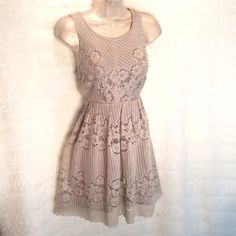 FREE PEOPLE crochet chic!! Fabulous crocheted taupe color that is a stunner! You will love. Bundle and save $$ Free People Dresses Mini
