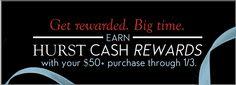 Hurst Cash Rewards are HERE! Get rewarded!  hurstdiamonds.com 785.749.5552 #hurstholiday #hurstdiamonds #jewelry #LawrenceKansas #ColumbiaMissouri #KansasCity #engagementrings #wedding #Christmasgift #give #shoplocal #diamonds