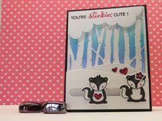 Lawn Fawn Stinkin' Cute Slider Card