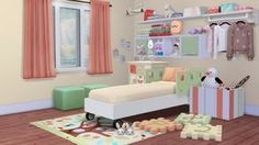 The Sims 4 CC || The Seeds of Design 2.0 child room at Dream Team Sims via Sims 4 Updates