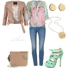 Cute Spring Summer Floral Outfit, created by natihasi on Polyvore