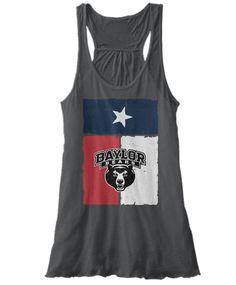 Baylor Bears Texas flag print tank // #SicEm