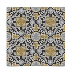 Baha Handmade Pack of 12 8x8-inch Cement and Granite Moroccan Tile , Handmade in Morocco