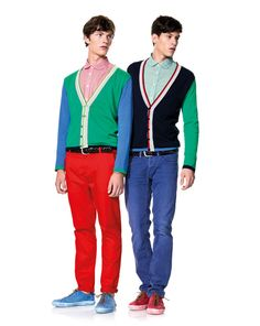 Color blocking for the guys. Check out these looks from United Colors Of Benetton.