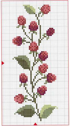 Вышивка крестом / Cross stitch : Ягоды