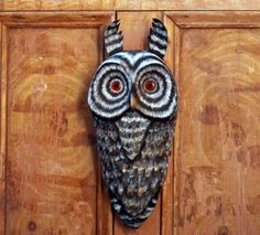 Woodland Owl, Carved Folk Art