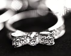diamond. bow ring.