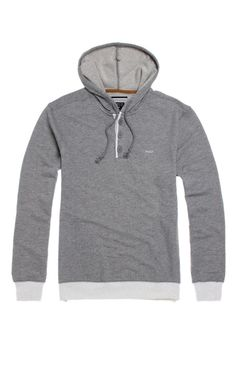 A PacSun.com Online Exclusive! PacSun presents the RVCA Capo Pullover Hoodie for men. This trendy men's hoodie comes with a three button henley neck, unique knit, and comfortable fit.	Solid hoodie with RVCA logo on chest	Matching hood and drawstrings	Front hand pockets	Long sleeves	Machine washable	60% cotton, 40% polyester	Imported   54.00 buy one get one half off