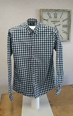 Scotch and Soda Blue Check Long Sleeved Shirt Size XL