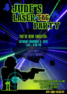 Laser Tag Distress Look GlowintheDark Tshirt imaginTEE