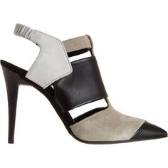 Narciso Rodriguez Colorblock Pointed Toe Shoe Boot in Gray (white)   Lyst