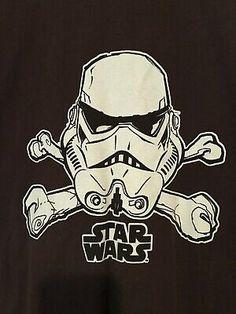 Stormtrooper Jolly Roger Mens T-shirt Tee Star Wars Skull Crossbones Pirate Cuadros Star Wars, Pirate Skull, Star Wars Tshirt, Jolly Roger, Skull And Crossbones, Costume, Pirates, Comic Books, Stars