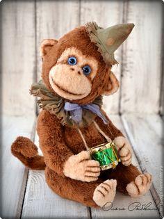 Купить авторская обезьянка для Ани. - коричневый, мишки тедди, мишки Тедди купить