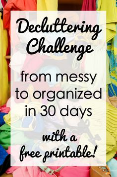 Decluttering Challenge with Free Printable