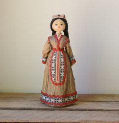 Vintage Russian Doll Figure Folk Art by RawRevivals on Etsy