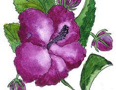 "Check out new work on my @Behance portfolio: """"hibiscus"" postcard"" http://on.be.net/1djFTbw"