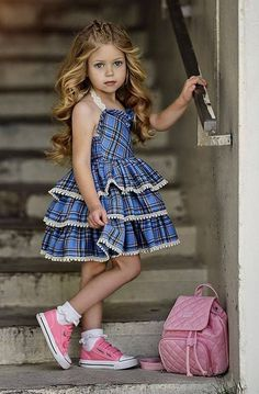 VOGUE ENFANTS: Must Have of the Day: Dollcake most popular design is back and better than ever! Little Girl Outfits, Little Girl Fashion, Little Girl Dresses, Toddler Fashion, Kids Fashion, Girls Party Dress, Baby Girl Dresses, Baby Dress, Flower Girl Dresses