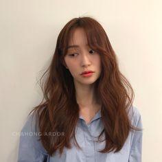 그레이스펌 Hair Color And Cut, Cool Hair Color, Korea Hair Color, Red Brown Hair, Korean Girl, Cool Hairstyles, Hair Makeup, Hair Cuts, Hair Styles