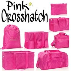 Pink Crosshatch Get yours at www.mythirtyone.com/1715286 or find me on Facebook at Kat's Bag Party! Kat McCain, Independent Consultant
