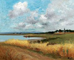 """dyf marcel wheatfield near the gulf (from <a href=""""http://www.oldpainters.org/picture.php?/24719/category/11484""""></a>)"""