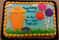 Lorax Quarter Sheet Cake by ayarel.deviantart.com on @DeviantArt