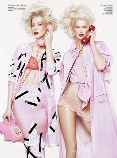 Alana Zimmer & Kasia Struss - V Magazine - Double Vision