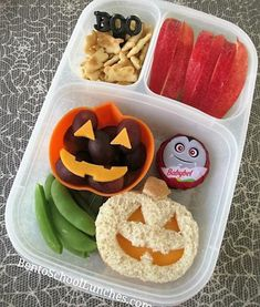 Jack - O - Lantern Halloween Bento Lunch in Easylunchboxes