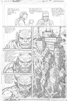 Blood of the Demon #17, page 2 by John Byrne & Dan Green & Alex Bleyaert. 2006.