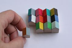 Little painted wood houses from The Small Object