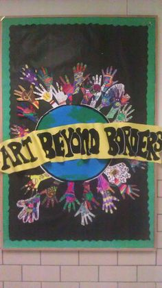 1st Day of School, have students design hand to use for September Bulletin