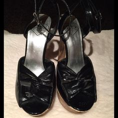 Shoes Black Wedges  shoes. I use them Once bebe Shoes Wedges