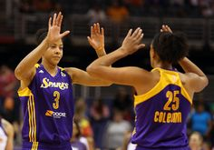 Marissa Coleman with teammate Candace Parker