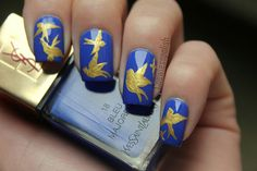By Carrie Ann. I found this #metallic swallow design on http://nailsbycoewless.tumblr.com. So cute!