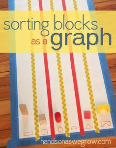 Sort blocks by shape onto a graph to see how many there are of each shape!