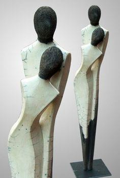 dualis5, raku-ceramic, h = 60 cm