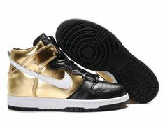 the latest 238d2 94b35 Nike Dunk High Gold High Top Sneakers, High Shoes, Michael Jordan Shoes, Air