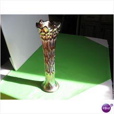 Elegant Fenton Carnival Glass Amethyst April Showers Vase USA on eBid United States
